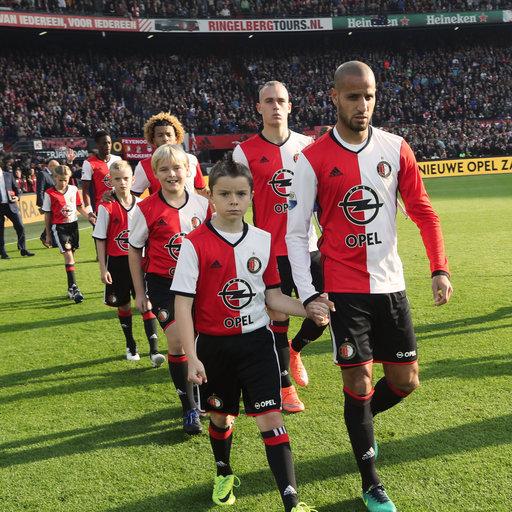 Wedstrijdmascottes Feyenoord - SC Heerenveen