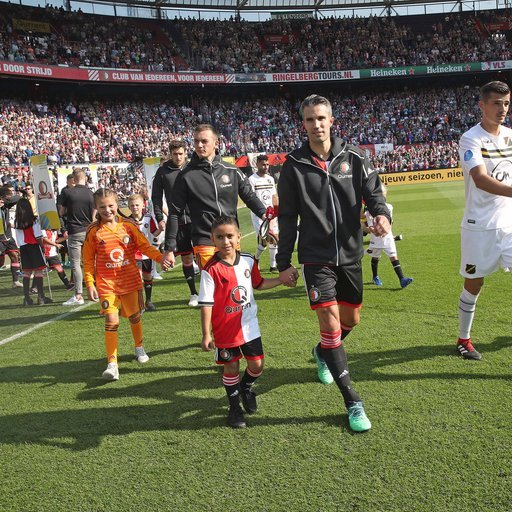 Feyenoord - NAC Breda wedstrijdmascottes