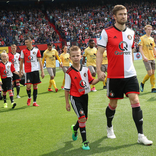 Feyenoord Excelsior wedstrijdmascottes