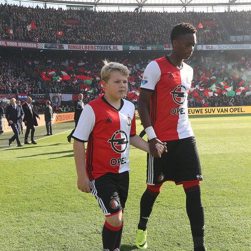 Wedstrijdmascottes Feyenoord - Ajax