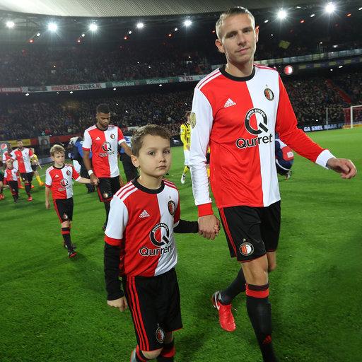 Wedstrijdmascottes Feyenoord - VVV-Venlo