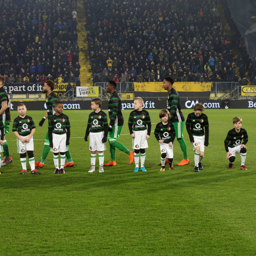 NAC Breda - Feyenoord Wedstrijdmascottes
