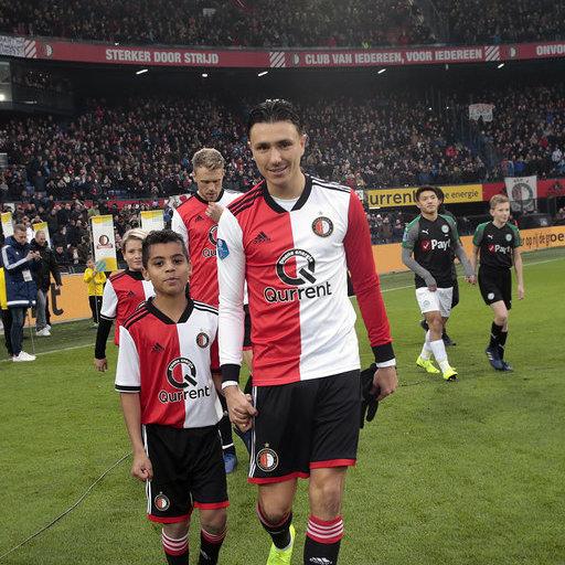 Wedstrijdmascottes Feyenoord - FC Groningen