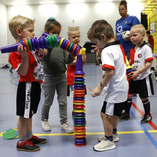 Feyenoord Voetjebal: Actiefoto's