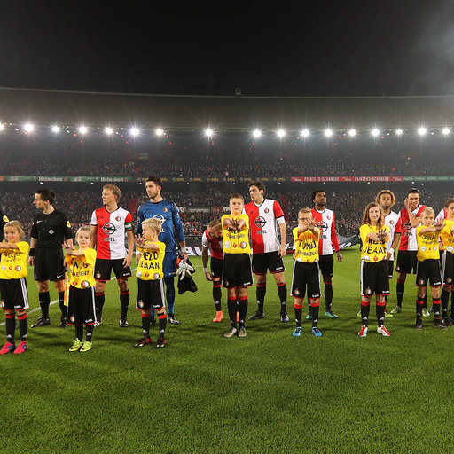 Wedstrijdmascottes Feyenoord - Vitesse