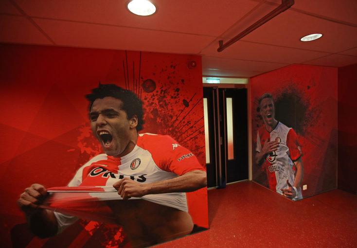 Feyenoord-iconen sieren muren kleedkamergebied