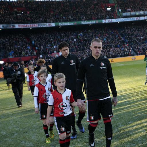 Wedstrijdmascottes Feyenoord - Sparta Rotterdam