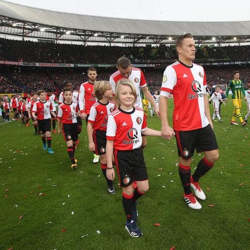 Wedstrijdmascottes Feyenoord - ADO Den Haag