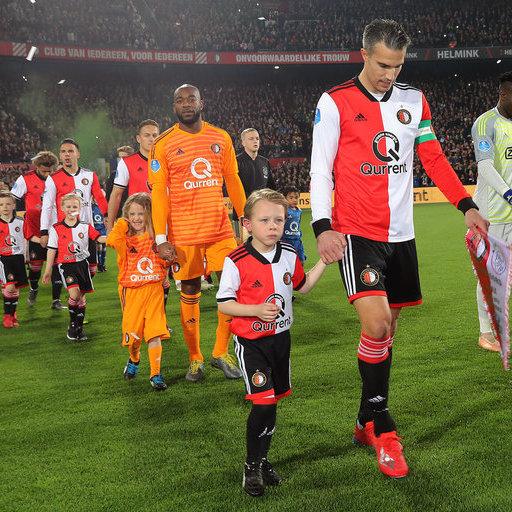 Wedstrijdmascottes Feyenoord – Ajax