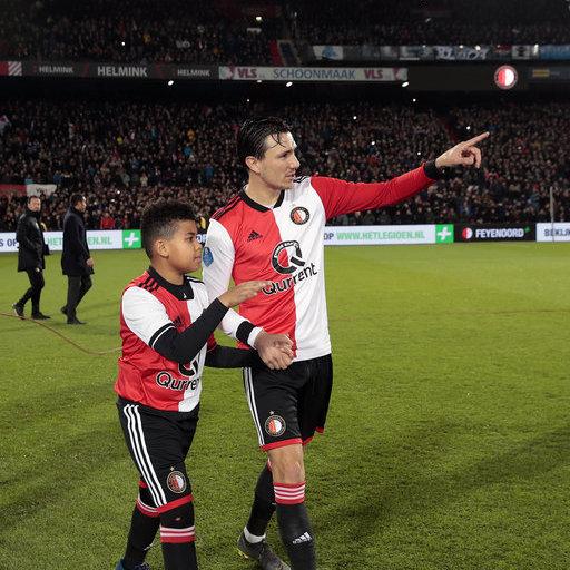 Wedstrijdmascottes Feyenoord - De Graafschap