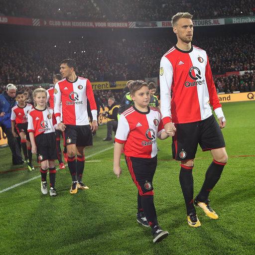 Wedstrijdmascottes Feyenoord - PSV Beker