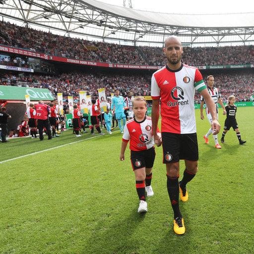 Wedstrijdmascottes Feyenoord - Willem II