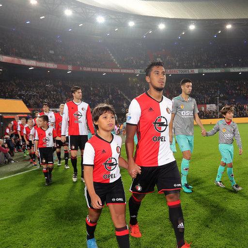 Wedstrijdmascottes Feyenoord - Excelsior (KNVB beker)