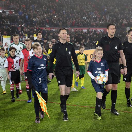 Wedstrijdmascottes Feyenoord – Fortuna Sittard