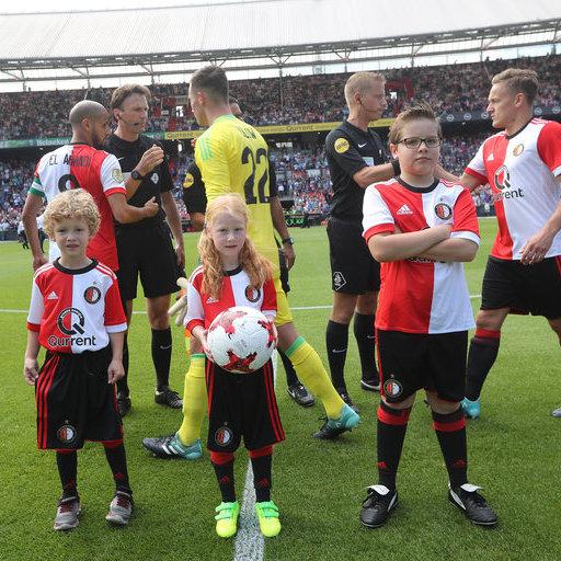 Wedstrijdmascottes Feyenoord - FC Twente