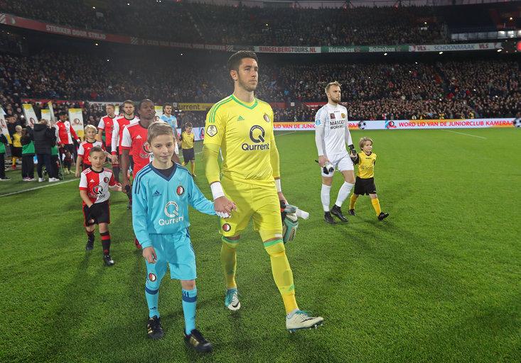 Wedstrijdmascottes Feyenoord - Roda JC