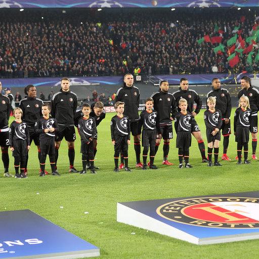 Wedstrijdmascottes Feyenoord - Napoli
