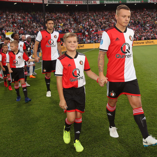 Feyenoord - AS Trencín wedstrijdmascottes