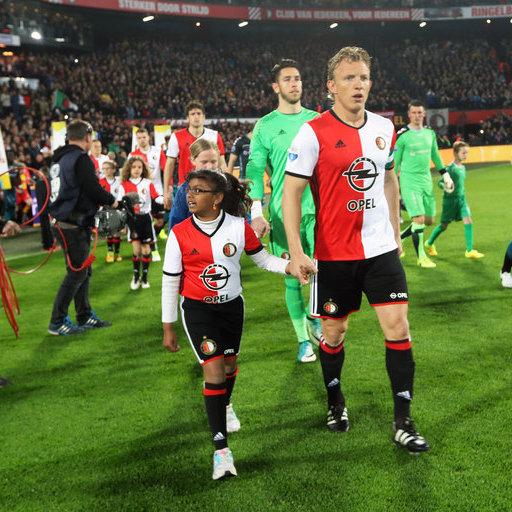 Wedstrijdmascottes Feyenoord - Go Ahead Eagles