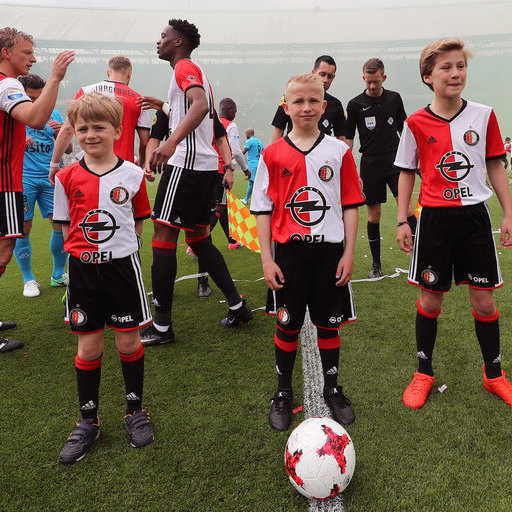 Wedstrijdmascottes Feyenoord - Heracles Almelo