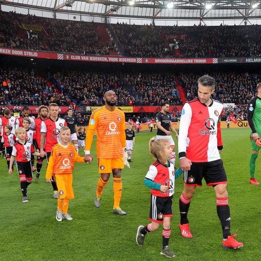 Wedstrijdmascottes Feyenoord – FC Emmen
