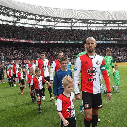Wedstrijdmascottes Feyenoord - FC Utrecht