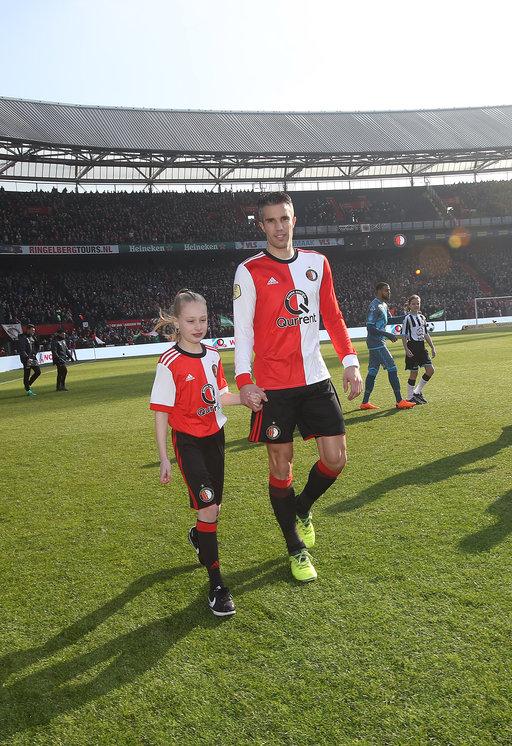 Feyenoord - Heracles Almelo Wedstrijdmascottes