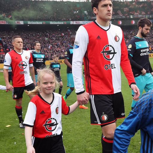 Wedstrijdmascottes Feyenoord - PSV