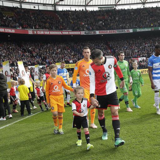 Feyenoord – PEC Zwolle wedstrijdmascottes